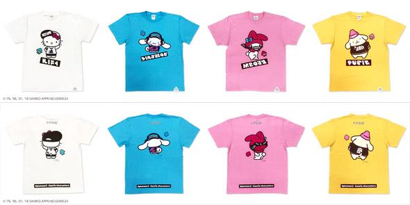 スプラトゥーン2とサンリオキャラクターズがコラボ!Tシャツも発売決定!